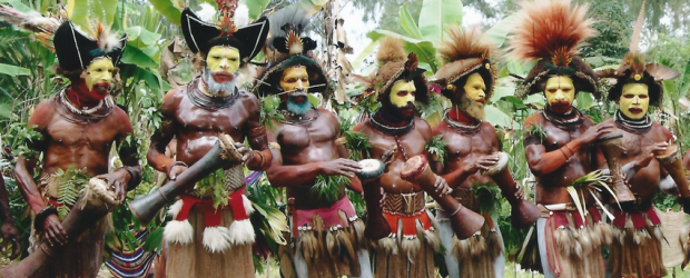 Huli Men, Papua New Guinea